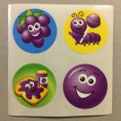 Sandylion Scratch and Sniff Smelly Grape Stickers Retro Rare Vintage KK508