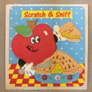 Sandylion Scratch and Sniff Smelly APPLE Pie Stickers Retro Rare Vintage SF01