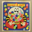 Sandylion Scratch and Sniff Smelly BUBBLE GUM Gumball Stickers Retro Rare Vintage SF03