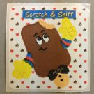 Sandylion Scratch and Sniff Smelly CHOCOLATE Stickers Retro Rare Vintage SF04