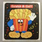 Sandylion Scratch and Sniff Smelly FRENCH FRIES Stickers Retro Rare Vintage SF05