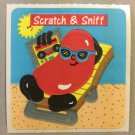 Sandylion Scratch and Sniff Smelly JELLY BEAN Stickers Retro Rare Vintage SF06