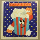 Sandylion Scratch and Sniff Smelly POPCORN Stickers Retro Rare Vintage SF11