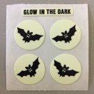 Sandylion Glow in the Dark BATS Halloween Stickers Retro Rare Vintage HG01