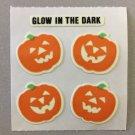 Sandylion Glow in the Dark PUMPKINS Halloween Stickers Retro Rare Vintage HG04