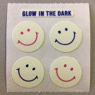 Sandylion Glow in the Dark HAPPY FACES Stickers Retro Rare Vintage HG09