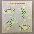 Sandylion Glow in the Dark FROGS Stickers Retro Rare Vintage HG13