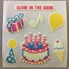 Sandylion Glow in the Dark BIRTHDAY PARTY Stickers Retro Rare Vintage HG14