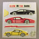 Sandylion Glow in the Dark RACING CARS Stickers Retro Rare Vintage HG15