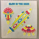 Sandylion Glow in the Dark SPACESHIPS Stickers Retro Rare Vintage HG20