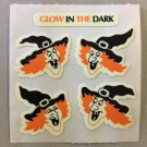 Sandylion Glow in the Dark WITCHES LAUGHING Halloween Stickers Retro Rare Vintage HG31