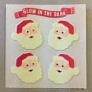 Sandylion Glow in the Dark SANTA Christmas Stickers Retro Rare Vintage XHG23
