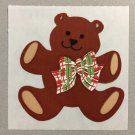 Sandylion Teddy Bear with Bow Tie Christmas Stickers Retro Rare Vintage XKK1c