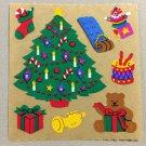 Sandylion Tree Toy Presents Teddy Bear Stocking Christmas Stickers Retro Rare Vintage XKK157a