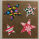Sandylion Christmas Stars Designer Presents Stickers Retro Rare Vintage XKK167