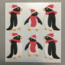 Sandylion Fuzzy Christmas Holiday Penguins Retro Rare Vintage XFM132
