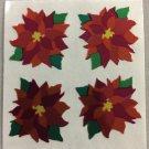 Sandylion Christmas Stickers Poinsettia Retro Rare Vintage XMY6