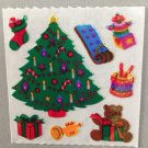 Sandylion Mother of Pearl Stickers MOP Christmas Tree Toys Presents Retro Rare Vintage XMOP157