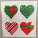 Sandylion Mother of Pearl Stickers MOP Christmas Hearts Retro Rare Vintage XMOP159