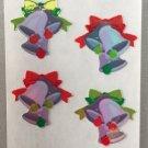 Sandylion Mother of Pearl Stickers MOP Christmas Bells Retro Rare Vintage XMOP210