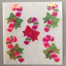 Sandylion Mother of Pearl Stickers MOP Christmas Candy Cane & Bow Retro Rare Vintage XMOP225