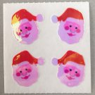 Sandylion Mother of Pearl Stickers MOP Christmas Santa Faces Retro Rare Vintage XMOP260