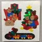 Sandylion Christmas Stickers Teddy Bears Train Tree Presents Retro Rare Vintage XPM60