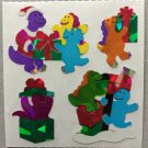 Sandylion Christmas Stickers Dinosaurs Presents Santa Retro Rare Vintage XPM62