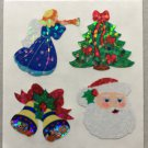 Sandylion Christmas Stickers Angel Bell Santa Tree Festive Retro Rare Vintage XPM65