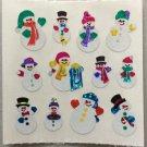 Sandylion Christmas Stickers Snowmen Snowman Retro Rare Vintage XPM67