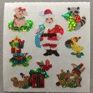 Sandylion Christmas Santa Animal Helpers Pig Raccoon Turtle Presents Retro Rare Vintage XPM71
