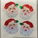 Sandylion Christmas Stickers Santa Faces Retro Rare Vintage XPM82