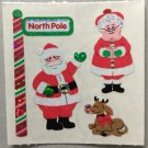 Sandylion Christmas Stickers North Pole Santa Mrs Claus Retro Rare Vintage XPM455