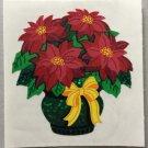 Sandylion Christmas Stickers Poinsettia Retro Rare Vintage XPM468