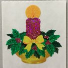Sandylion Christmas Candle with Holly Retro Rare Vintage XPM474