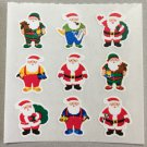Sandylion Christmas Santa Stickers Retro Rare Vintage XKK362