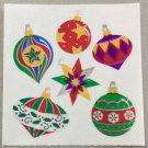 Sandylion Christmas Stickers Ornaments Tree Retro Rare Vintage XMY328