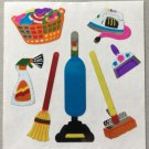 Sandylion Housework Laundry Vacuum Broom Cleaner Iron Dustpan Sponge Stickers Rare Vintage MY197