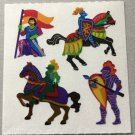 Sandylion Medieval Knights Sword Flag Horse History Stickers Rare Vintage MY331
