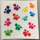 Sandylion Paw Prints Animals Puppy Dog Cat Rainbow Stickers Rare Vintage MY333