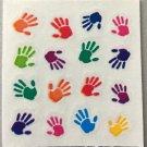 Sandylion Hand Prints Baby Child Parent Rainbow Stickers Rare Vintage MY334