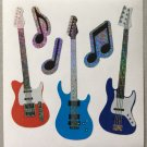 Sandylion Guitars Electric Music Jam Notes  Stickers Rare Vintage MY992