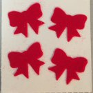 Sandylion Fuzzy Stickers Red BOW TIES Retro Rare Vintage FM013