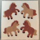 Sandylion Fuzzy Stickers PONIES PONY Horse Retro Rare Vintage FM035