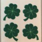 Sandylion Fuzzy Stickers FOUR LEAF CLOVER Lucky Retro Rare Vintage FM055
