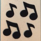 Sandylion Fuzzy Stickers MUSICAL NOTES Retro Rare Vintage FM063
