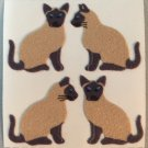 Sandylion Fuzzy SIAMESE Cats Kittens Retro Rare Vintage FM075