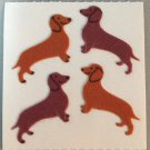 Sandylion Fuzzy DACHSHUND Dog Puppy Weiner Dog Retro Rare Vintage FM081
