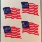 Sandylion Fuzzy Stickers AMERICAN FLAG USA Patriotic Retro Rare Vintage FM084