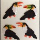 Sandylion Fuzzy Stickers TOUCAN Bird Retro Rare Vintage Retired FM142